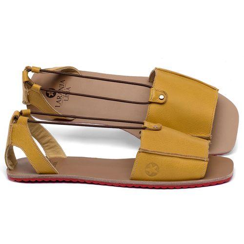 Laranja_Lima_Shoes_Sapatos_Femininos_Sandalia_Rasteira_Flat_em_Couro_Amarelo_-_Codigo_-_3761_1