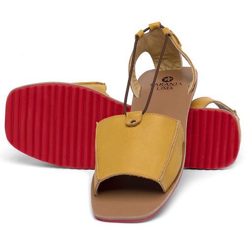 Laranja_Lima_Shoes_Sapatos_Femininos_Sandalia_Rasteira_Flat_em_Couro_Amarelo_-_Codigo_-_3761_2
