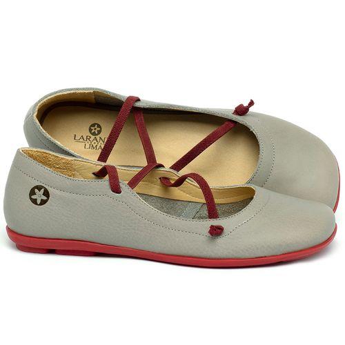Laranja_Lima_Shoes_Sapatos_Femininos_Sapatilha_Bico_Quadrado_em_Couro_Cinza_-_Codigo_-_9471_1