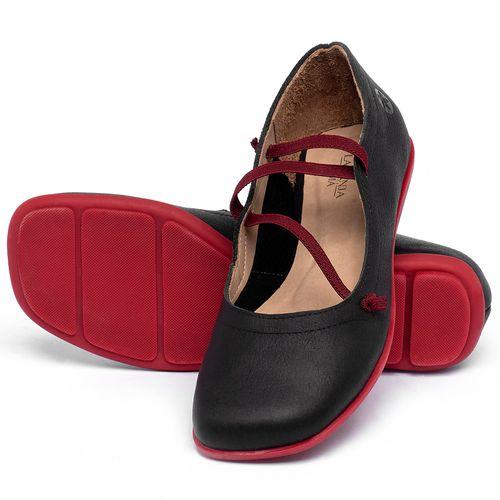 Laranja_Lima_Shoes_Sapatos_Femininos_Sapatilha_Bico_Quadrado_em_Couro_Preto_-_Codigo_-_9471_2