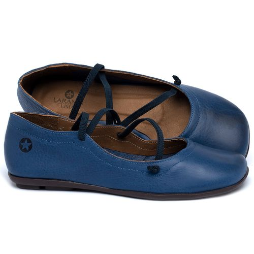 Laranja_Lima_Shoes_Sapatos_Femininos_Sapatilha_Bico_Quadrado_em_Couro_Azul_-_Codigo_-_9471_1