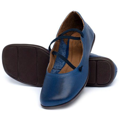 Laranja_Lima_Shoes_Sapatos_Femininos_Sapatilha_Bico_Quadrado_em_Couro_Azul_-_Codigo_-_9471_2