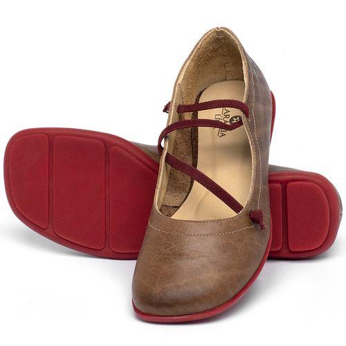 Laranja_Lima_Shoes_Sapatos_Femininos_Sapatilha_Bico_Quadrado_em_Couro_Caramelo_-_Codigo_-_9471_2