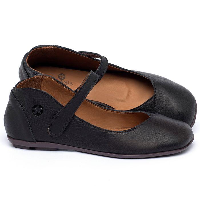 Laranja_Lima_Shoes_Sapatos_Femininos_Sapatilha_Bico_Quadrado_em_Couro_Preto_-_Codigo_-_9495_1
