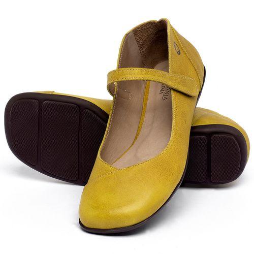 Laranja_Lima_Shoes_Sapatos_Femininos_Sapatilha_Bico_Quadrado_em_Couro_Amarelo_-_Codigo_-_9495_2