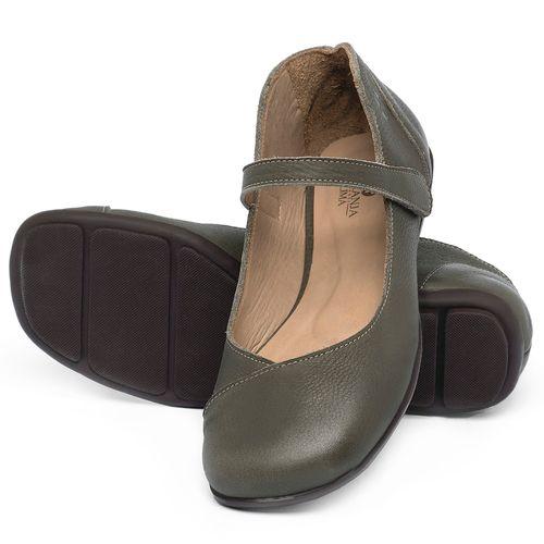 Laranja_Lima_Shoes_Sapatos_Femininos_Sapatilha_Bico_Quadrado_em_Couro_Verde_-_Codigo_-_9495_2