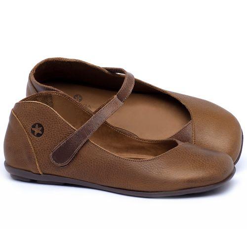 Laranja_Lima_Shoes_Sapatos_Femininos_Sapatilha_Bico_Quadrado_em_Couro_Caramelo_-_Codigo_-_9495_1