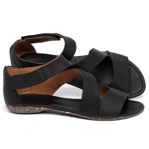 Laranja_Lima_Shoes_Sapatos_Femininos_Sandalia_Rasteira_Flat_em_Couro_Preto_-_Codigo_-_148046_1