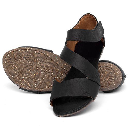 Laranja_Lima_Shoes_Sapatos_Femininos_Sandalia_Rasteira_Flat_em_Couro_Preto_-_Codigo_-_148046_2