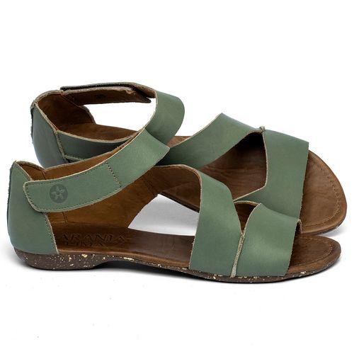 Laranja_Lima_Shoes_Sapatos_Femininos_Sandalia_Rasteira_Flat_em_Couro_Verde_-_Codigo_-_148046_1
