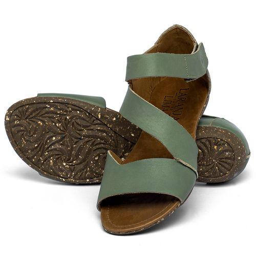 Laranja_Lima_Shoes_Sapatos_Femininos_Sandalia_Rasteira_Flat_em_Couro_Verde_-_Codigo_-_148046_2