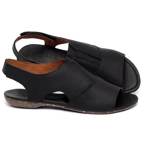 Laranja_Lima_Shoes_Sapatos_Femininos_Sandalia_Rasteira_Flat_em_Couro_Preto_-_Codigo_-_148047_1