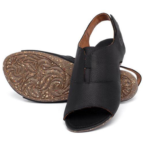Laranja_Lima_Shoes_Sapatos_Femininos_Sandalia_Rasteira_Flat_em_Couro_Preto_-_Codigo_-_148047_2