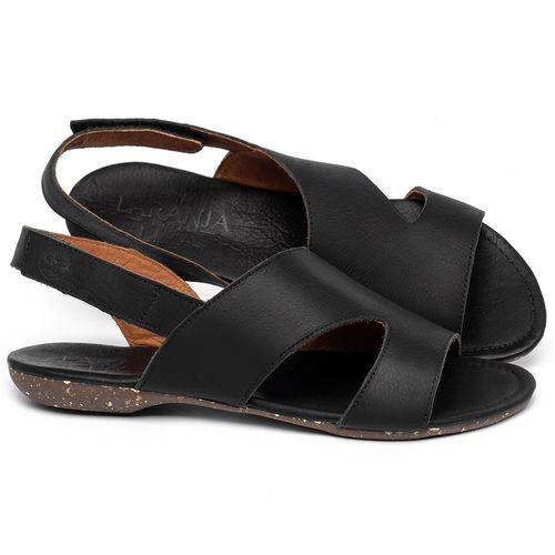 Laranja_Lima_Shoes_Sapatos_Femininos_Sandalia_Rasteira_Flat_em_Couro_Preto_-_Codigo_-_148048_1