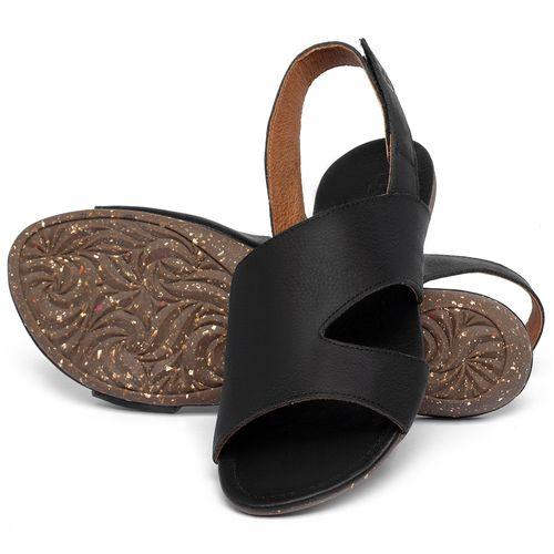 Laranja_Lima_Shoes_Sapatos_Femininos_Sandalia_Rasteira_Flat_em_Couro_Preto_-_Codigo_-_148048_2