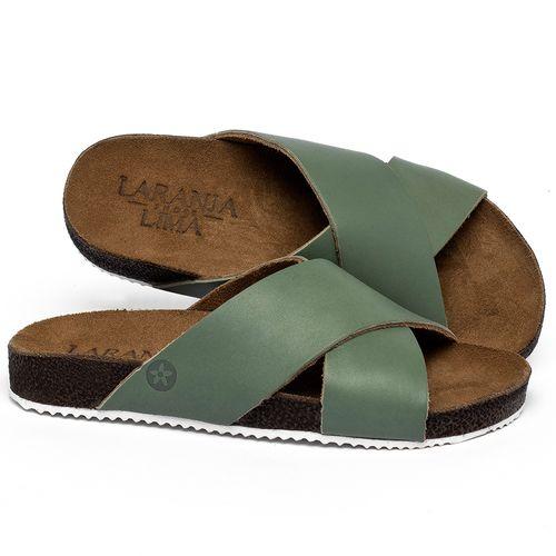 Laranja_Lima_Shoes_Sapatos_Femininos_Sandalia_Rasteira_Flat_em_Couro_Verde_-_Codigo_-_148043_1