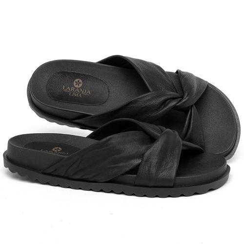 Laranja_Lima_Shoes_Sapatos_Femininos_Sandalia_Rasteira_Flat_em_Couro_Preto_-_Codigo_-_9512_1