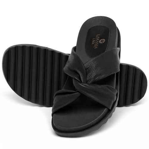 Laranja_Lima_Shoes_Sapatos_Femininos_Sandalia_Rasteira_Flat_em_Couro_Preto_-_Codigo_-_9512_2