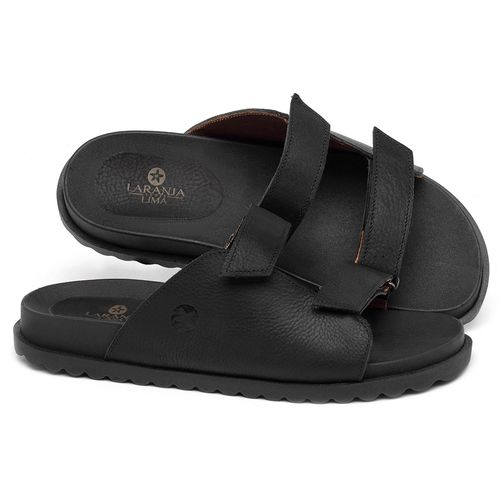 Laranja_Lima_Shoes_Sapatos_Femininos_Sandalia_Rasteira_Flat_em_Couro_Preto_-_Codigo_-_9513_1