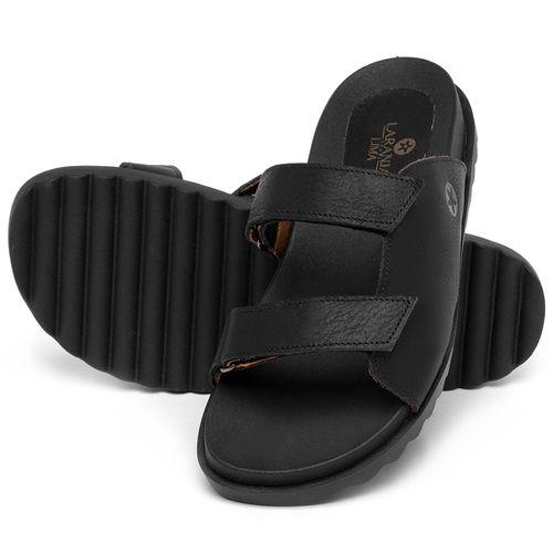 Laranja_Lima_Shoes_Sapatos_Femininos_Sandalia_Rasteira_Flat_em_Couro_Preto_-_Codigo_-_9513_2