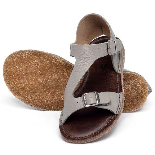 Laranja_Lima_Shoes_Sapatos_Femininos_Sandalia_Rasteira_Flat_em_Couro_Cinza_-_Codigo_-_141020_2