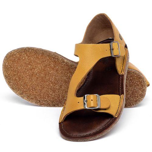 Laranja_Lima_Shoes_Sapatos_Femininos_Sandalia_Rasteira_Flat_em_Couro_Amarelo_-_Codigo_-_141020_2