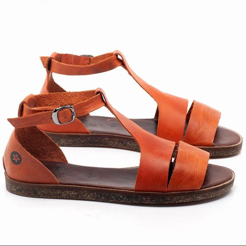 Laranja_Lima_Shoes_Sapatos_Femininos_Sandalia_Rasteira_Flat_em_Couro_Laranja_-_Codigo_-_141058_1